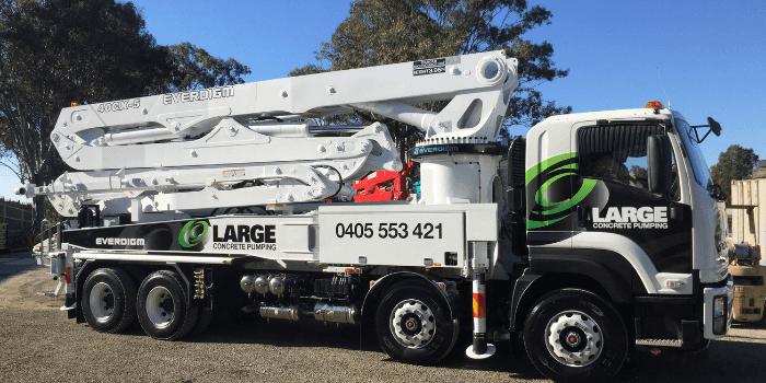 large concrete pumping fleet cover